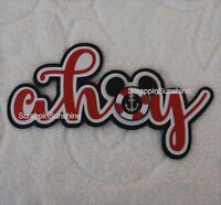 Disney Cruise Ahoy Die Cut Title Scrapbook Page Paper Piece