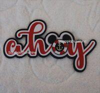 Disney Cruise Ahoy Die Cut Title Scrapbook Page Paper Piece