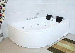 Details zu XXL Luxus Whirlpool Badewanne 180x120 cm mit Armaturen für Bad  Eckwanne RECHTS