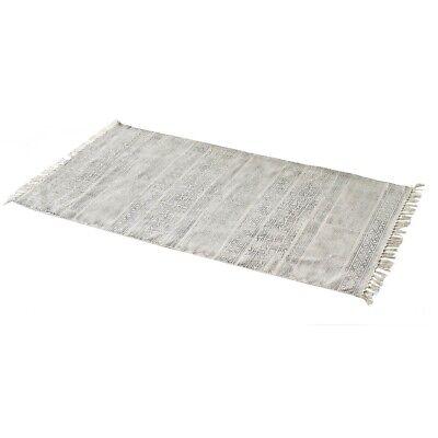 Flatweave Stampato In Nero Cotone Padra Tappeto Da Parlane 150 Cm- Una Vasta Selezione Di Colori E Disegni