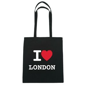 Hipster I Jute London Colore nero Love Bag OwUrOI