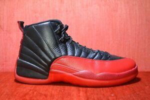 ab1bc4c512e0e6 CLEAN Nike Air Jordan 12 Flu Game Bred Retro Black Red GS 130690-002 ...