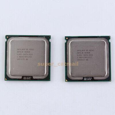 Matching pair (2) Intel Xeon X5365 3GHz Quad-Core LGA771 CPU Processor