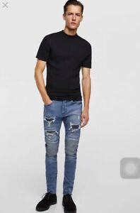 908ea1ac Image is loading zara-man-skinny-fit-denim-collection-size-30