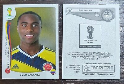 PANINI WM BRASIL 2014 THE REAL EDER BALANTA N.189 RARE//RARA NEW//NUOVA