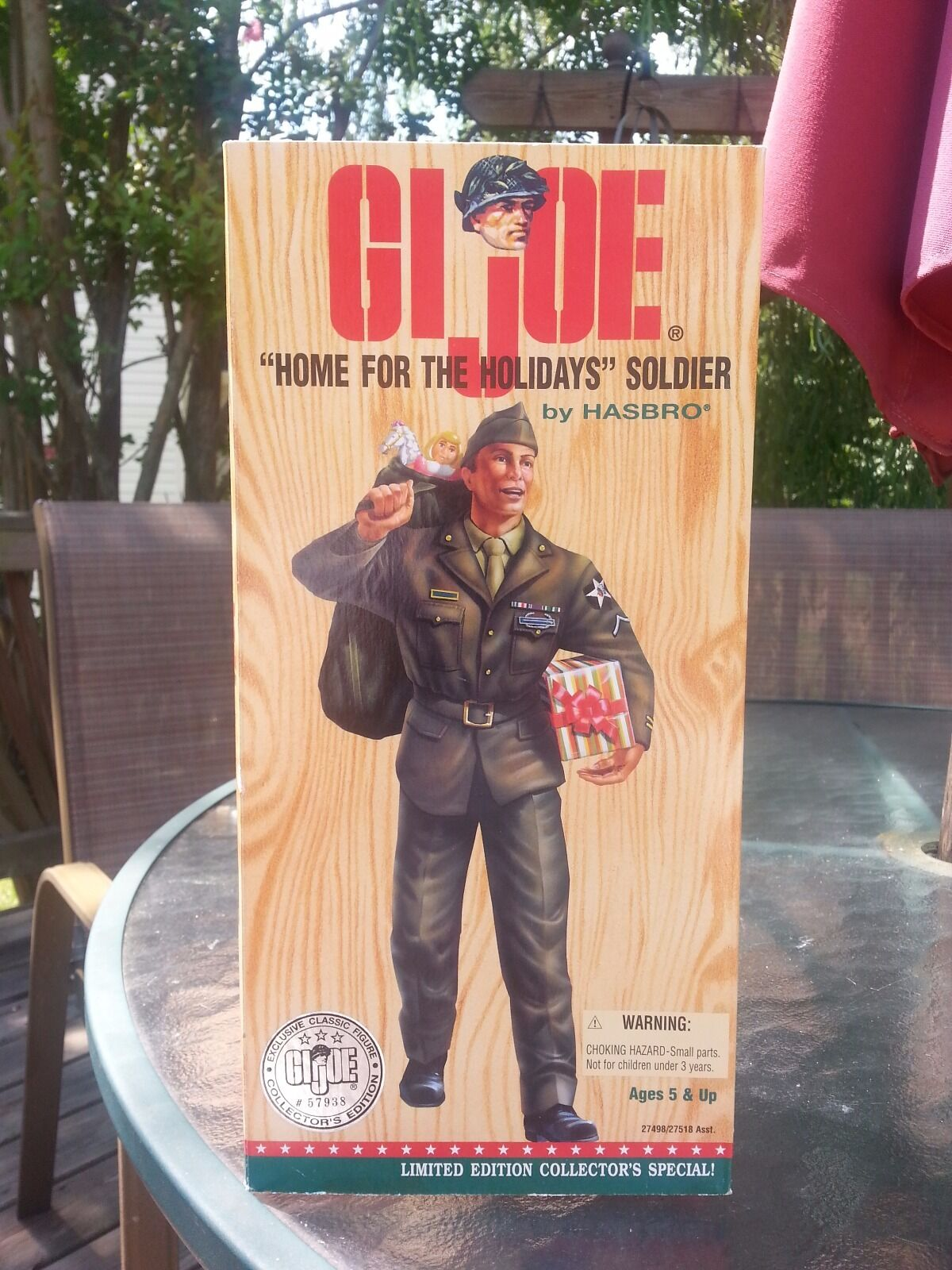 1996   12in, GI JOE, Home for the Holiday, Limited Edition, Action Figure,