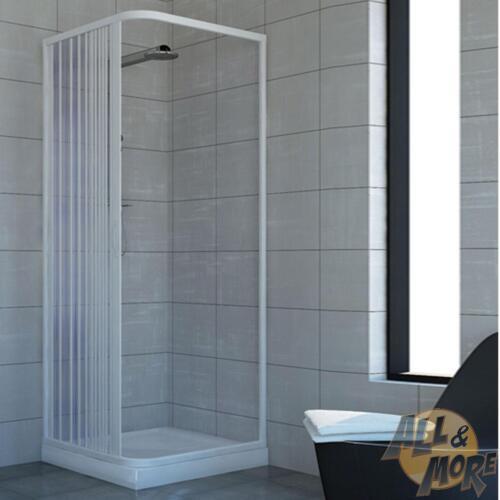 Shower Enclosure Plastic PVC Side Opening Walk in Quadrant Cubicle ...