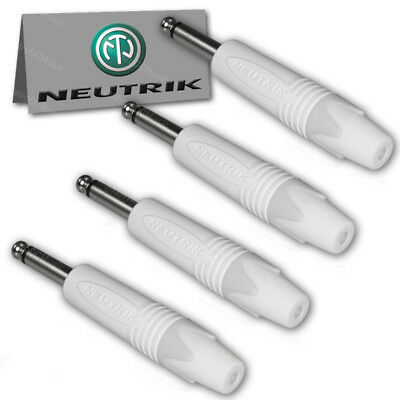 "8-Pack Neutrik NP2X TS Mono 1//4/"" Nickel Guitar Speaker Male Audio Plug 6.35 NEW"
