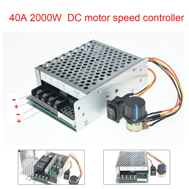 DC 12V 24V 36V 48V 40A 2000W PWM Motor Speed Controller CW CCW Reversible Switch