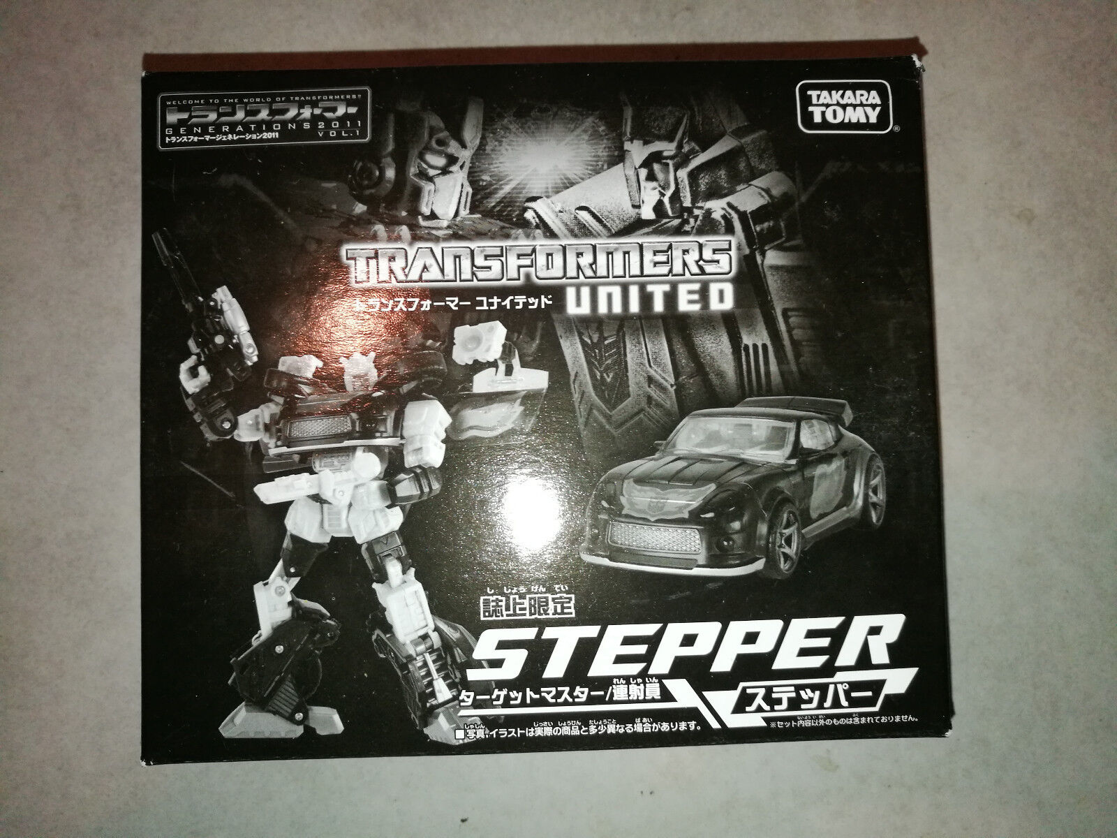 TRANSFORMERS TAKARA UNITED DELUXE CLASS STEPPER LIMITED RARE JAPAN EXKLUSIV