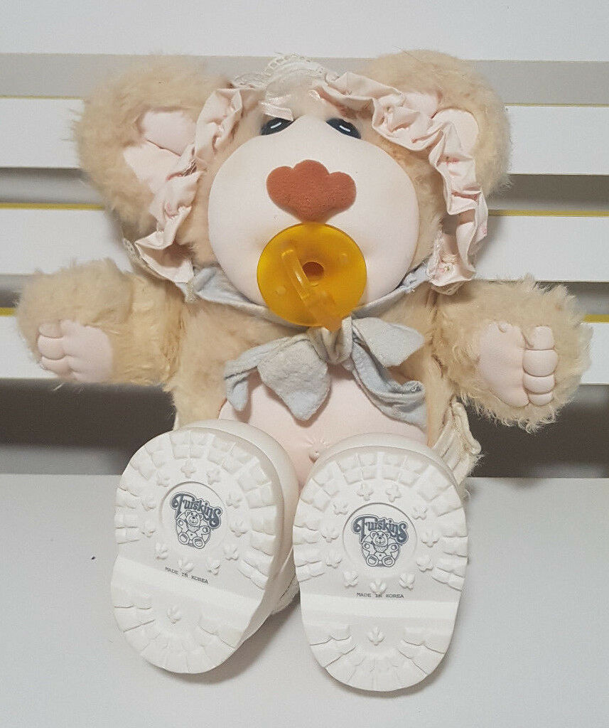 FURSKIN ORIGINAL DOLL WEARING schuhe AND BONNET WITH DUMMY PLUSH TOY 36CM TALL