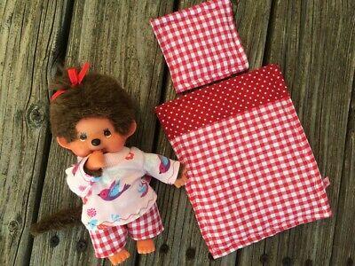 für MONCHHICHI Gr 20 MONCHICHI rosa Bettzeug Decke Kissen neu Bettwäsche 2-tlg