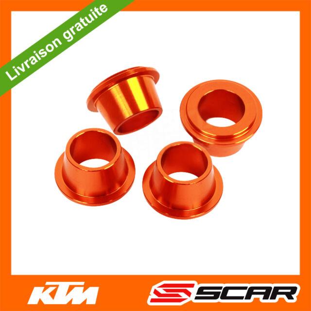 CONES ALU DOUILLES PONTET TE KTM SX SXF SX-F 125 150 250 350 450 ORANGE SCAR