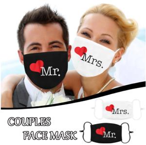 Mundmaske- Nasenmaske- Behelfsmaske- Mr. & Mrs. Hochzeits-Mund Nasenmaske