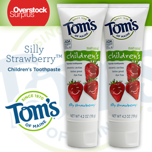 2-Tom-039-s-of-Maine-Anticavity-Silly-Strawberry-Toothpaste-4-2-oz-Each-Exp-05-2020
