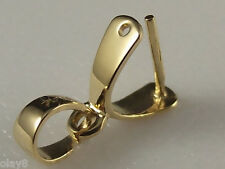 18K Yellow Gold Pendant Clasp Wider Hook / Big one