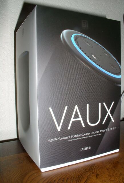 VAUX Cordless Home Speaker Portable Battery for Amazon Echo Dot Gen 2 Black//Ca