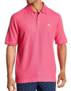 b53606df30 NWT Men s TOMMY BAHAMA EMFIELDER Pique Polo Shirt SPRING CHERRY 3XL ...