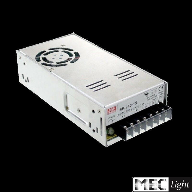 LED Trafo - Netzteil 12V DC - 240W - 20A MEAN WELL (SP-240-12) MW TÜV MM