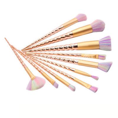 10pcs Spiral Unicorn Make-Up Brushes Blusher Contour Face Powder Foundation Set