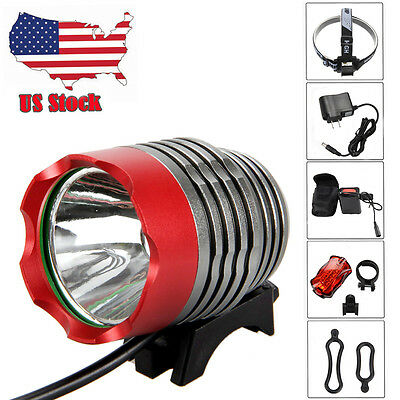 2000LM CREE XM-L U2 LED Head Front Bicycle Lamp Bike Light Headlamp AC Charger