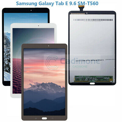 """Samsung Galaxy Tab E 9.6/"""" SM-T560 WIFI Tablet Touch Screen LCD Display White"""