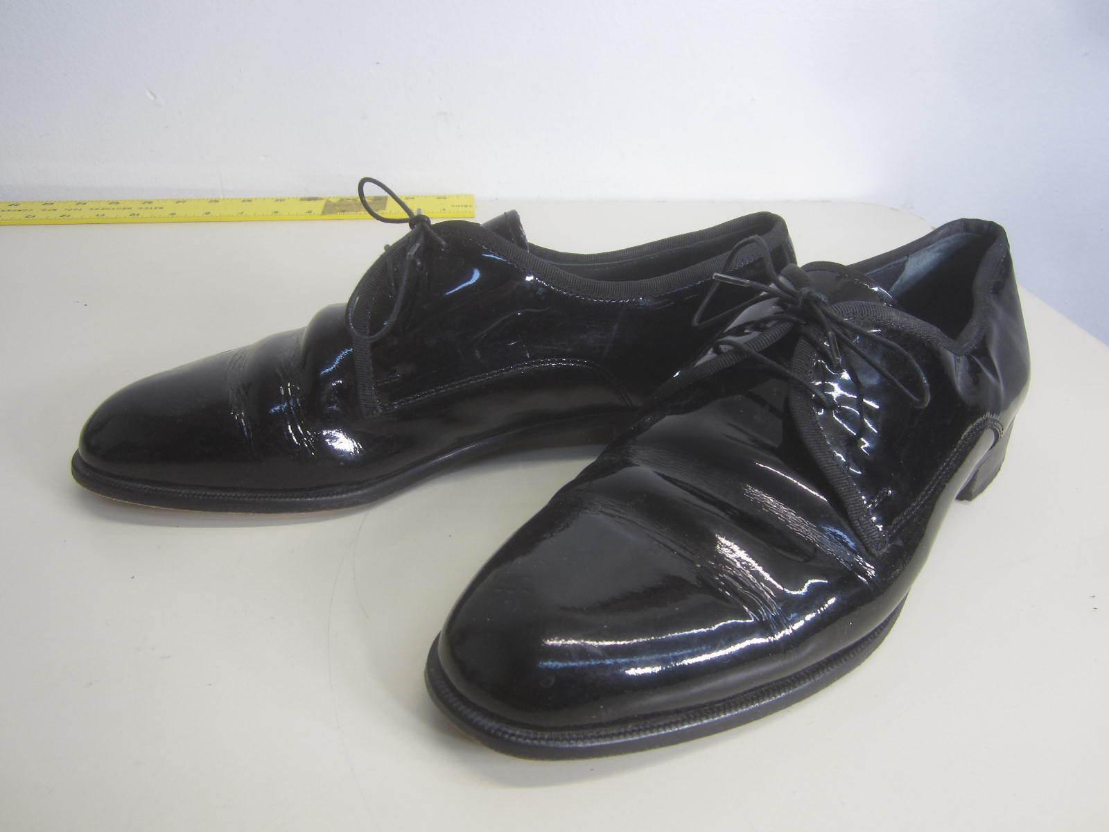 servizio premuroso Vtg Pronto Uomo Firenze Tuxedo scarpe shiny nero patent patent patent leather sz 10 M  l'intera rete più bassa