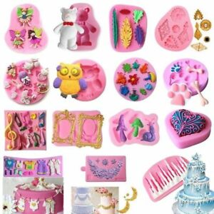 3D-Silicona-Molde-Pastel-Torta-Fondant-Chocolate-Mould-Sugarcraft-DIY-Decoracion