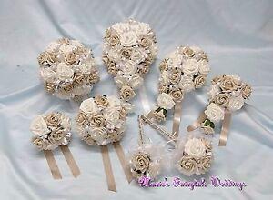wedding flowers bride bridesmaid f/girl bouquet wand corsage, Hause deko
