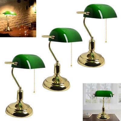 Messing Bankerlampe Tischlampe Schreibtischlampe Banker/'s Lamp 30 cm x 18cm grün