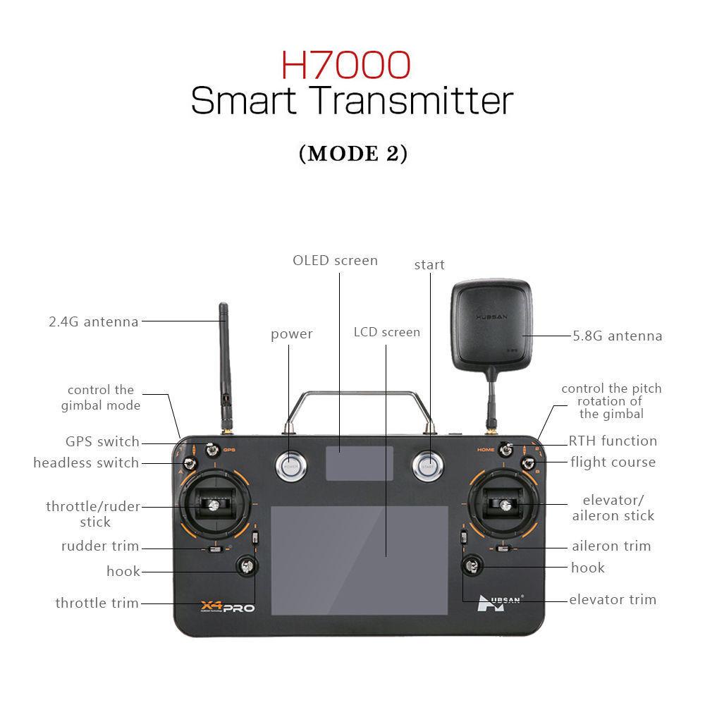 Hubsan X4 H109S Pro Original FPV Touchscreen Transmitter H7000, H7000, H7000,  H109S-38 68c3c6