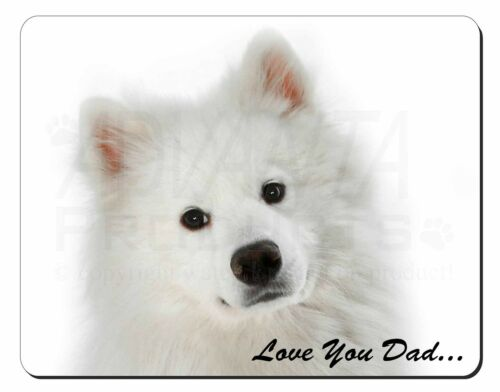 Samoyed /'Love You Dad/' Sentiment Computer Mouse Mat Christmas Gift Ide DAD-116M
