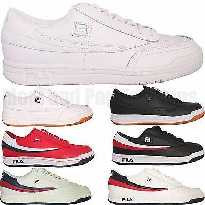 Para Hombre Fila Original Tenis Zapatos tenis atléticas OT Casual Blanco Negro Goma Rojo | eBay