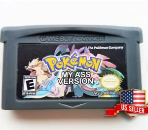 Pokemon-My-Ass-Custom-Fan-Made-Hack-US-Seller-Gameboy-Advance-GBA-SP