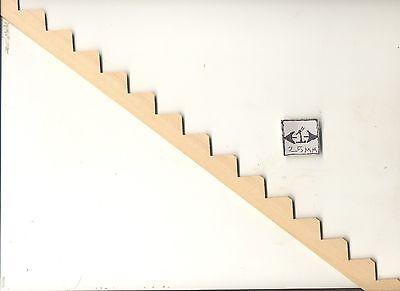 "Stair Stringer 14 steps NE897   14"" miniature dollhouse 1/'12 scale wood 1pc"