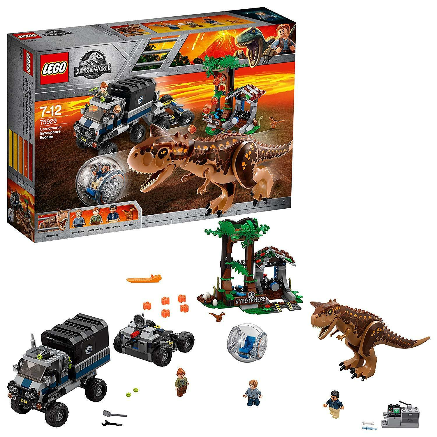 Lego Kids  Jurassic World Carnotaurus gyrosphere Escape 'Set dinosaure Playset