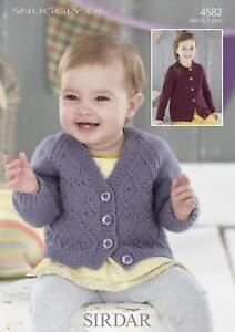 Sirdar-4582-Knitting-Pattern-Baby-Childrens-Cardigans-in-Sirdar-Snuggly-DK