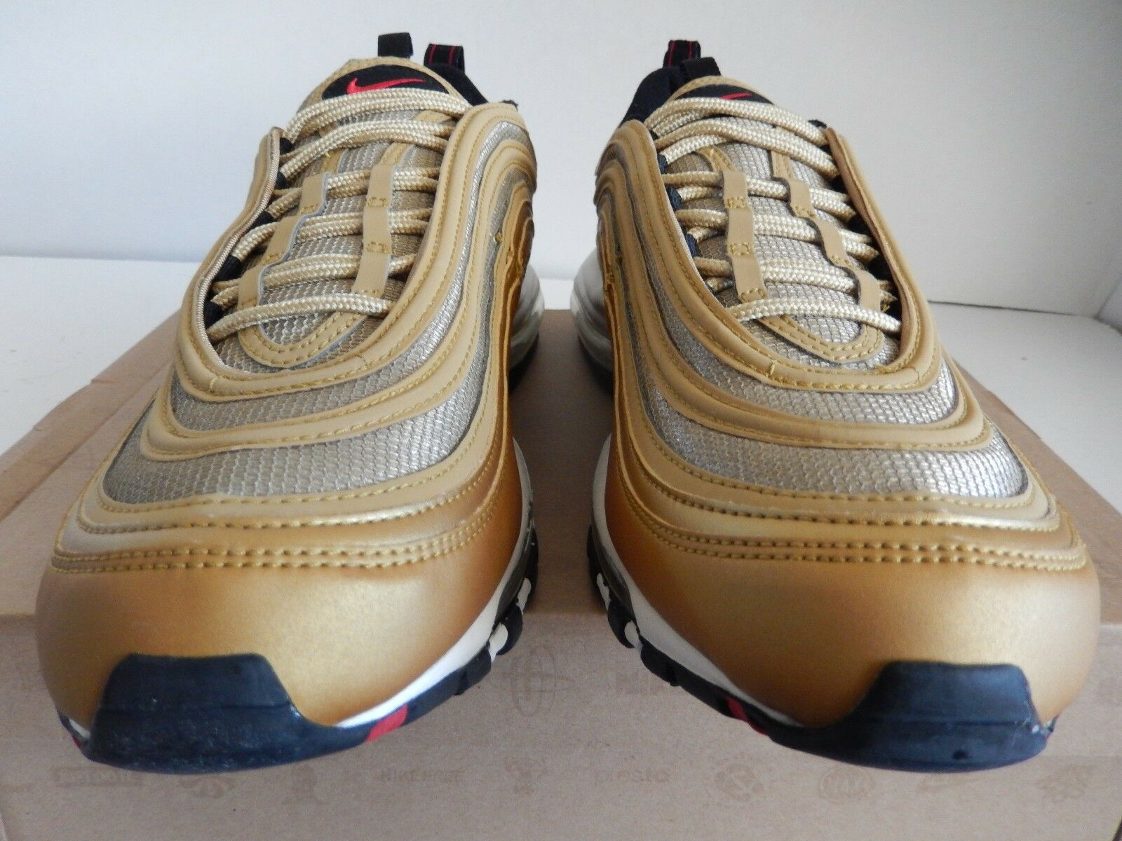 NIKE NIKE NIKE AIR MAX 97 METALLIC gold-RED-BLACK SZ 13  OLYMPIC RARE    [312641-700] ff7f02