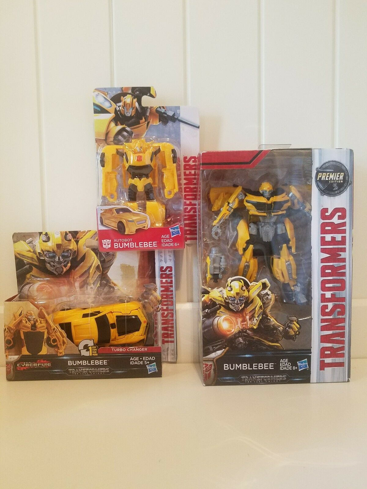 Transformers The Last Knight Deluxe Class Bumblebee LOT Set of 3 NEW IN BOX  NIB