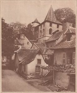 G2308-France-Un-village-de-l-039-Aveyron-Stampa-d-039-epoca-1930-vintage-print