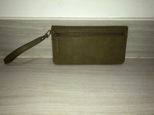 York Wallet 100Leather brown Military Barney's Style New Olive m8Nwvn0