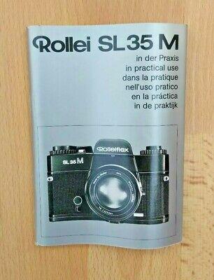 Rollei SL 86 en el manual de uso práctico libro de instrucciones Genuino Original