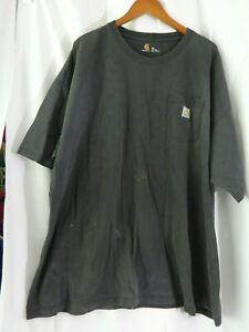 Mens-Carhartt-4Xl-Gray-Pocket-Tee-Shirt