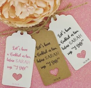 Image Is Loading Personalised Hen Do Party Gift Tags 034 Thank