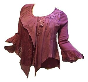Pretty-Angel-Size-S-M-L-Victorian-Purple-Top-10787