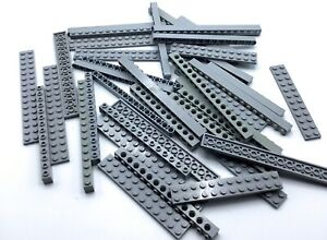 LEGO-LOT-OF-LIGHT-GREY-LONG-BEAM-PIECES-BUILDING-PLATE-BRICK-PARTS