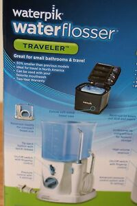 waterpik flosser traveler water jet pick water pik wp305 w 6 tips used ebay. Black Bedroom Furniture Sets. Home Design Ideas