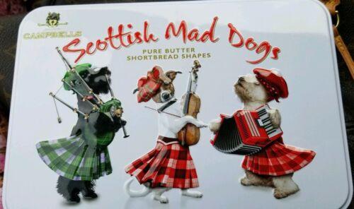 Campbells Shortbread cookie Scottish Scottie Fox West Highland white Terrier tin