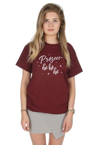 Prosecc-Ho Ho Ho T-shirt Homme Noël Noël Drôle Fête Vêtements Prosecco