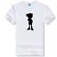 Anime Détective Conan T-shirt à manches courtes Hommes Ample Multicolore